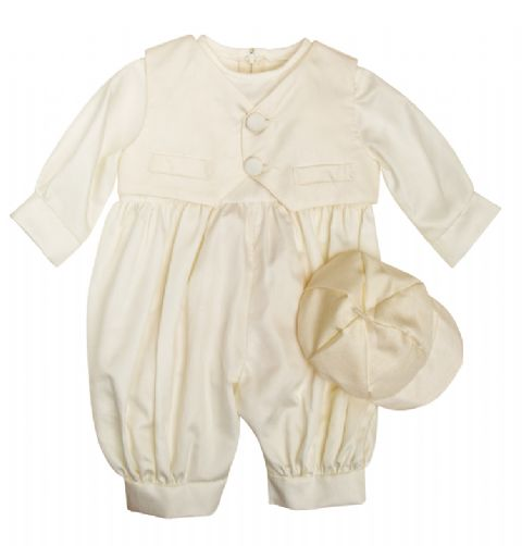Waistcoat Dupion Romper Ivory~ Boys Suits